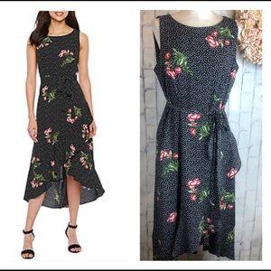 Sandra Darren Studio 1 Sleeveless Floral Midi Wrap